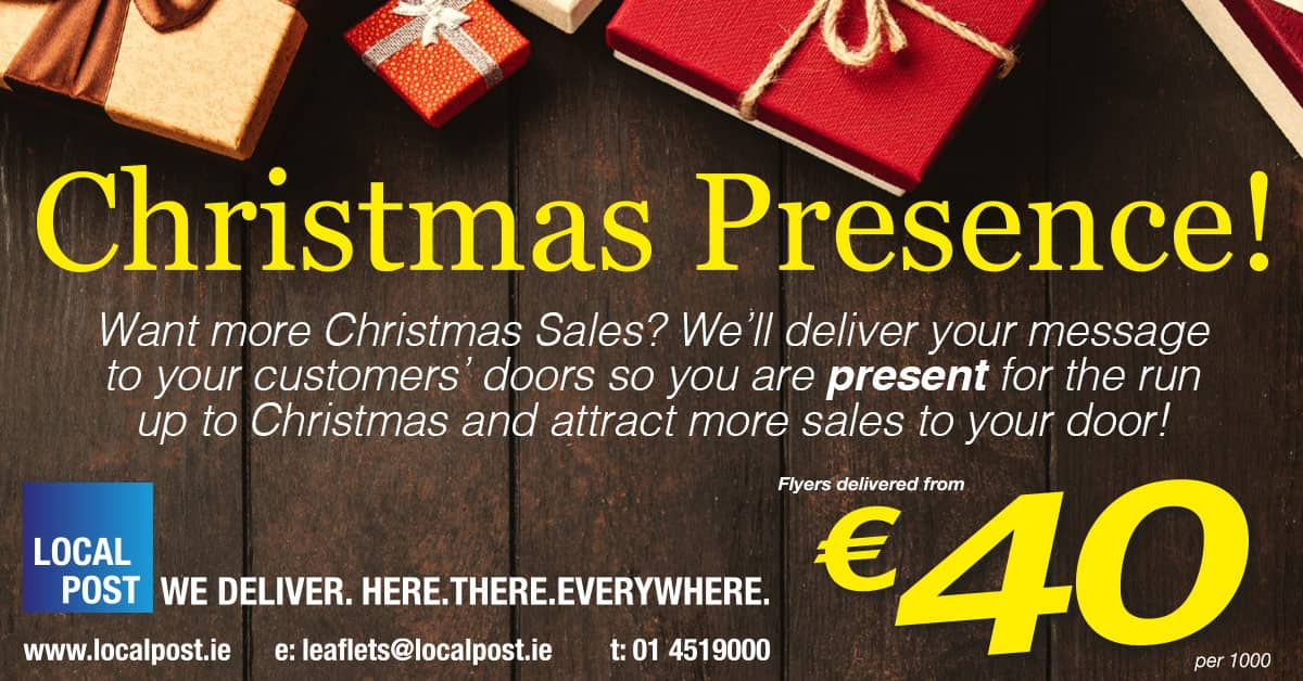 Get your Christmas flyers delivered